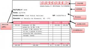 caracteristicas de una factura