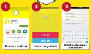 como crear una cuenta de snapchat